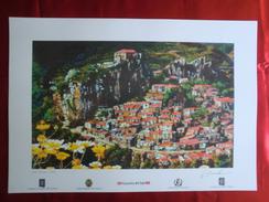 Foto Litografia PALIZZI SUPERIORE, VEDUTA Di Nello Cuzzola - PERFETTA - Litografia