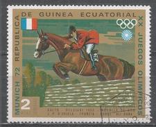 Equatorial Guinea 1972, Scott #72147 J-P D'oriola And ''Ali Baba'' (FRA), Helsink1 1952, Gold Medal (U) - Guinée Equatoriale