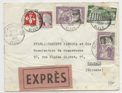 ALGERIE - 1961 - ENVELOPPE EXPRES De ALGER BAB EL OUED Pour TALENCE - Algeria (1924-1962)