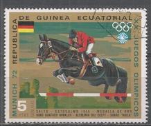 Equatorial Guinea 1972, Scott #72149 Hans Gunther Winkler And ''Halla'', Stockholm 1956, Gold Medal (U) - Guinée Equatoriale