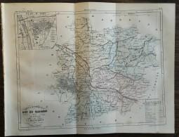CARTES DU LOT ET GARONNE - ATLAS DE LA FRANCE ILLUSTRÉE - AGEN - MOULIN DE BARLASTE ETC ... - Journaux - Quotidiens