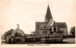 Zutendaal - Kerkplein En Kerk - 2 Scans - Zutendaal