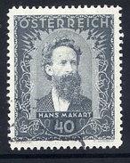 AUSTRIA 1932 Painters 40+40 Gr. Used.  Michel 548 - 1918-1945 1st Republic