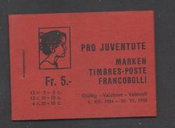SUISSE - PRO JUVENTUTE - PAPILLONS - BUTTERFLIES / 1954 CARNET COMPLET ** / RARE (ref 7374) - Pro Juventute