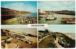 Greetings From Folkestone, East Cliff Promenade, Inner Harbour, Harvey Memorial, The Leas, The Zig Zag Path (pk32097) - Folkestone