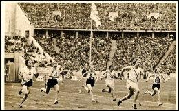 "1936, Sommer-Olympiade, Amtliche Bildpostkarte ""Siegerin Helen Stephens (U.S.A.) Im 100 M Endlauf. (Goldene... - Postcards"