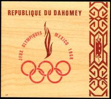 "Ministerblock ""Olympiade 1968 Mexico"" Im Entsprechendem Folder, Tadellos Ungebraucht., Katalog: Bl.15 Secretary... - Dahomey (1899-1944)"