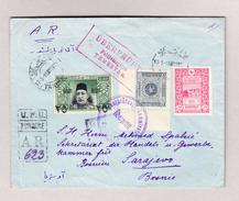 Türkei 17.5.1916 Constantinopel Zensur A.R. Brief Nach Sarajevo Mit Mi.# 260+354+P46 - 1858-1921 Empire Ottoman