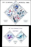 Olympiade Moskau Und Lake Placid, Die Ausgaben Je Blocksonderdruck, Tadellos Postfrisch, Mi. 340.-, Katalog:... - Monaco