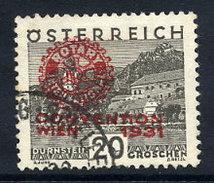 AUSTRIA 1931 Rotary International Congress 20+20 Gr... Used.  Michel 519 - 1918-1945 1st Republic