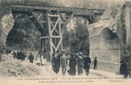 80 - Pont De Chemin De Fer Détruit Entre Rouen Et Amiens - Somme - France