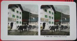 Stereofoto: Deutschland Bayern Bad Hindelang (OA) - Abzug / Abtrieb Von Der Alm - Stereoscopio