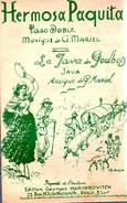 """COLLECTION MUSIQUE - PARTITION ACCORDEON PASO DOBLE - HERMOSA PAQUITA """"la Java Des Poulbots"""" G. MARIEL - Non Classés"""