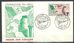 """Mali FDC YT 1 """" Création De La Fédération """" 1960 Enveloppe 1er Jour - Malí (1959-...)"""