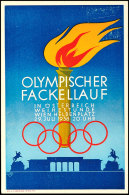 1936, Olympischer Fackellauf, In Österreich, Weihestunde, Wien Heldenplatz, 29. Juli 1936 20 Uhr,... - Germany