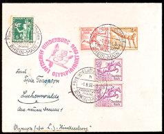 1936, Olympiafahrt LZ 129, Auflieferung Rhein/Main-Flughafen, Zumeist Mit Olympiade-Sondermarken (Zusammendruck... - Germany