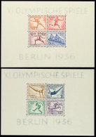 "Blockausgabe ""Olympiade 1936"", Blockpaar, Tadellos Postfrisch, Mi. 260,-, Katalog: Bl.5/6 **Souvenir Sheet... - Germany"