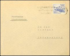 """25 Pfg. Olympiade Auf Portogerechtem Brief Von """"HAGEN 29.11.35"""" Nach Triesenberg/ Liechtenstein Mit Ank.-stpl.,... - Germany"""