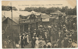 Fete Foraine  Le Creusot St Laurent 1904 Place Schneider   Stand Phenomene Vivant Jean Libbera Homme à 2 Corps Né à Rome - Evénements