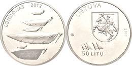 50 Litu, 2011, XXX. Olympische Sommerspiele 2012 In London, Schön 107, In Papieretui Mit Kapsel Und... - Lithuania