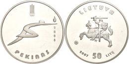 50 Litu, 2007, XXIX. Olympische Sommerspiele In Beijing, KM 152, Schön 85, Im Papieretui Mit Kapsel Und... - Lithuania