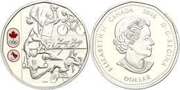 1 Dollar, 2016, Olympische Spiele Rio (Tampondruck), Im Etui Mit OVP Und Zertifikat (ohne Kapsel), PP.  PP1... - Canada