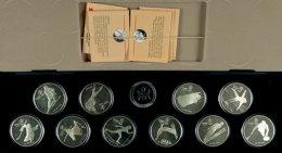 1988, Set Zu 10x 20 Dollars, Olympiade In Calgary 1988, In Schatulle (etwas Beschädigt) Mit Kapseln Und... - Canada
