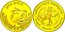 10 Euro, Gold, 2007, XXIX, Olympiade In Beijing 2008, KM 1478, Schön 894, Im Etui Mit OVP Und Zertifikat,... - France