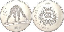 10 Euro, 2016, Olympiade In Rio De Janeiro, Im Etui Mit Kapsel Und Zertifikat, Auflage Nur 5.000 Stück, PP. ... - Estonia