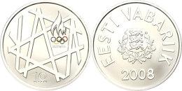 10 Krooni, 2008, XXIX. Olympiade In Beijing, KM 48, Schön 49, Im Etui Mit Kapsel Und Zertifikat, Auflage Nur... - Estonia