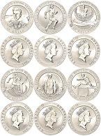 Set Zu 6x 10 Dollars, 1994 - 1996, Proben Trio Olympisches Erbe Reihe, Im Etui Mit OVP Und Zertifikat, PP. ... - Unclassified