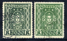 AUSTRIA 1922 Definitive2000 Kr. In Both Shades Used.  Michel 405Aa-b - 1918-1945 1st Republic