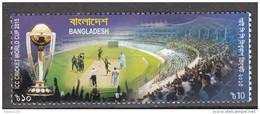 BANGLADESH,  2015, ICC  World  Cup  Cricket, Trophy India Pakistan, 1 V, MNH, (**) - Bangladesh