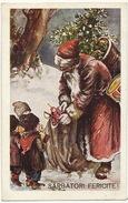 Santa Claus Red Robe   Pere Noel Robe Rouge Roumanie Sarbatori Fericite Coll. E. Marvan  Bucuresti - Santa Claus
