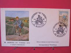 Enveloppe Journée Du Timbre - 1er Jour D'émission - Morcenx Le 18/03/1972 - FDC