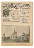 PETITE BROCHURE CATALOGUE CHARLES FIX PARIS AMEUBLEMENT MENUISERIE D'ART SIEGES TENTURES TAPISSERIES - France