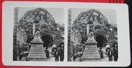 Stereofoto: Nippon / Japan - Japanese Tombstones / Japanische Grabsteine - Stereo-Photographie