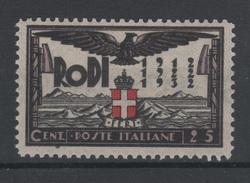 1932 Egeo Ventennale Occupazione Fascista 25 C. MNH - Egeo