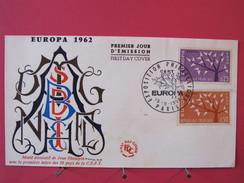 Enveloppe Premier Jour - Europa 1962 - Exposition Philatélique De Paris Le 15/09/1962 - FDC