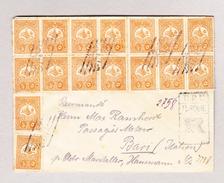 Türkei 1908 Constantinople R-Brief Nach Bari It. Mit 16 X 5paras Mi#134 - Lettres & Documents