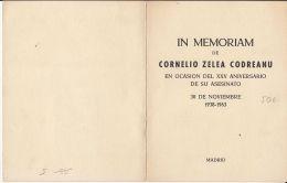 53522- CORNELIU ZELEA CODREANU, IRON GUARD LEADER, BOOKLET, ROMANIAN EXILE IN MADRID, 1963, ROMANIA - Carnets