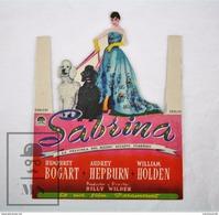 1954 Die Cut Cinema/ Movie Advertising - Sabrina, Actors: Humphrey Bogart, Audrey Hepburn, William Holden - Publicidad