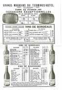 BROCHURE CATALOGUE GRANDS MAGASINS DU TERMINUS HOTEL 1911 VINS CAFES CONFITURES ETC GARE ST-LAZARE PARIS - Levensmiddelen
