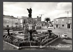 1965 POLISTENA PIAZZA DEL POPOLO MONUMENTO AI CADUTI FG V SEE 2 SCANS ANIMATA GIARDINETTA FIAT - Altre Città