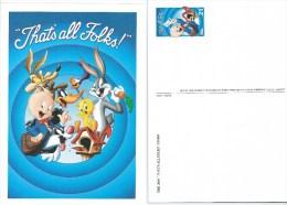 USA. Scott # UX 376 Mint. Postal Card. Porky Pig At Mailbox  2001 - Entiers Postaux