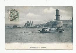 Cp, 13 , MARSEILLE , La Rade , Bateaux, Voyagée 1908 - Marseilles