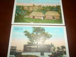 B654  2 Cartoline Cuba Cm14x9  Non Viagg. - Cartoline