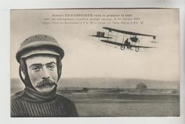 CPSM TRANSPORT AVION AVIATEUR - Robert GRANDSEIGNE Vola Le 1er La Nuit Sur CAUDRON Le 14/02/1914 à Issy Les Moulineaux - Airmen, Fliers