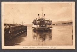 1926 REGGIO CALABRIA IL PORTO ARRIVO DEL FERRY BOAT FP V SEE 2 SCANS ANIMATA - Reggio Calabria
