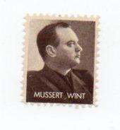 """Timbre De Propagande """"Mussert Wint"""" Propagandazegel NSB - WO2"""